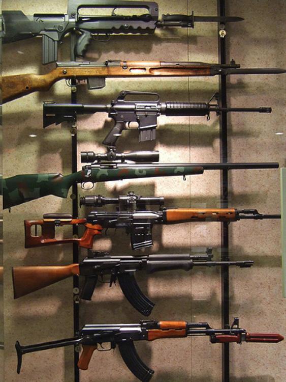 machineguns