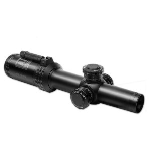 Bushnell AR Optics FFP Illuminated BTR-1 BDC Reticle AR-223 Riflescope with Target Turrets and Throw Down PCL, 1-4x 24mm