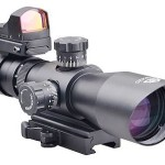 Trinity Force 3-9x42 Redcon-1 Scope Combo, Black, Mil-dot/Red, Green, Blue Illum. SR11S3942RGBH