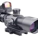 Trinity Force 3-9x42 Redcon-1 Scope Combo, Black, P4 Sniper/Red, Green, Blue Illum. SP4S3942RGBH