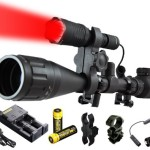 Ultimate Rechargeable Hunting Light Bundle: Orion Predator H30 273 Yards LED Flashlight, High Clearance Scope Mount, Universal Barrel and Rail Mount, Remote Pressure Switch, 2 Sets Rechargeable Batteries, Smart Charger with A/C and Car Adapter