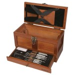 Outers 25 - Piece Universal Wood Gun Cleaning Tool Chest (.22 Caliber and up)