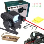 VERY100 Holographic Laser Sight Scope Reflex 4 Red Green Dot Reticle Picatinny Rail