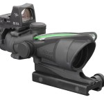 ACOG TA31F-G-RMR Trijicon 4x32 Scope with Dual Illuminated Green Chevron .223 Ballistic Reticle, 3.25 MOA RMR Sight and TA51 Mount