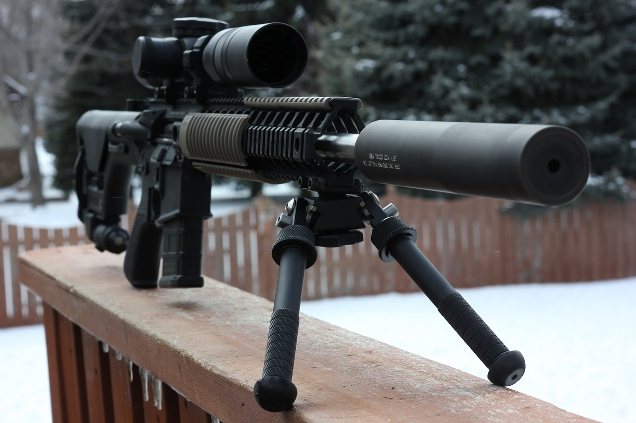 a rifle installed with bipod and ffp scope